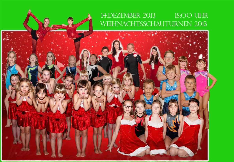 Die Turner des TSV Einheit Bitterfeld freuen sich auf ihre Gäste zum Weihnachtsschauturnen am 14.12.2013